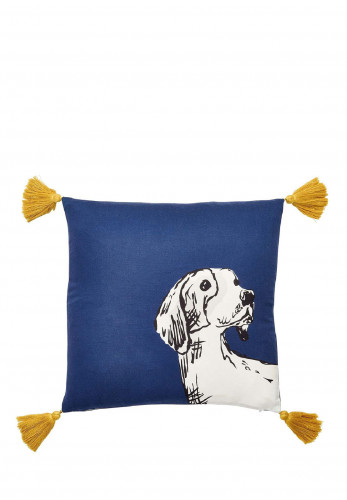 Joules Sketchy Dogs Cushion 60x40cm, Navy