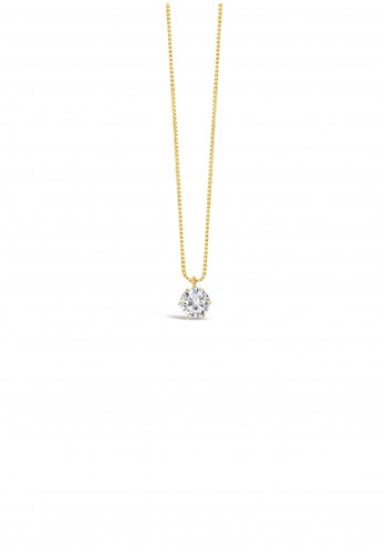 Absolute Crystal Pendant Necklace, Gold