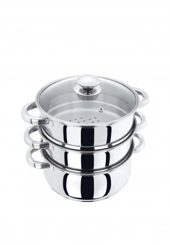 Judge Basics 3 Piece Steamer, Silver