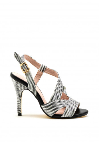 Kate Appleby Clerkenwell High Heel Sandals, Black & White