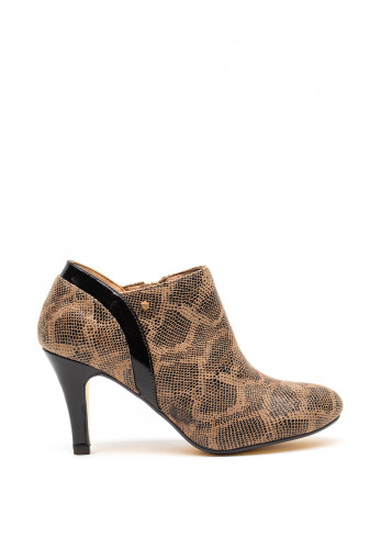Kate Appleby Golspie Snake Print Low Ankle Boots, Taupe