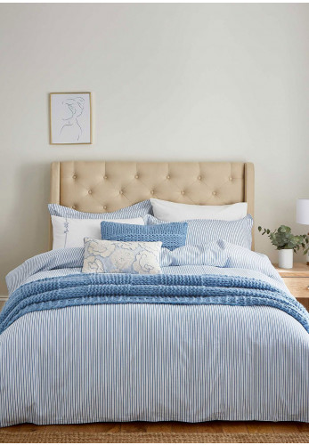 The Katie Piper Collection Be Still Candy Stripe Duvet Cover Set, Blue