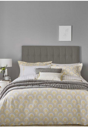 The Katie Piper Collection Reset Sprig Duvet Cover Set, Yellow