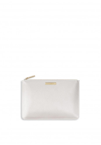 Katie Loxton Perfect Pouch Maid Of Honour, Metallic White