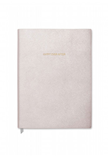 Katie Loxton Happy Ever After Large Notebook, Metallic White