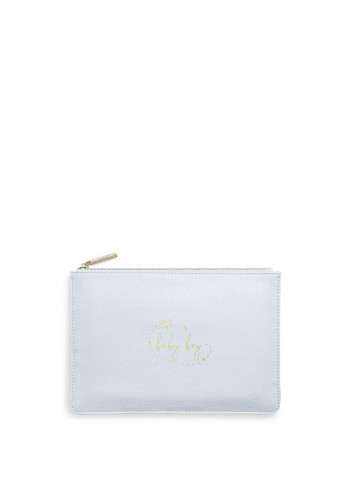 Katie Loxton Perfect Pouch 'Baby Boy', Pastel Blue