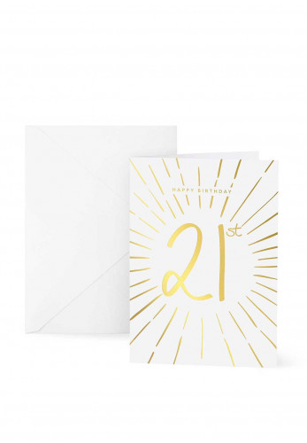 Katie Loxton 21st Birthday Card, 7x5