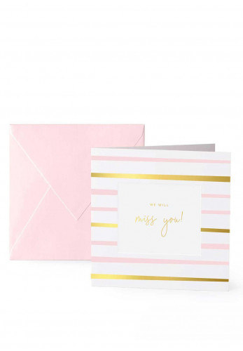 Katie Loxton 'We Will Miss You' Card, 7.5x7.5