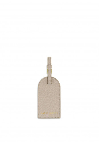 Katie Loxton Celine Faux Croc Luggage Tag, Oyster Grey