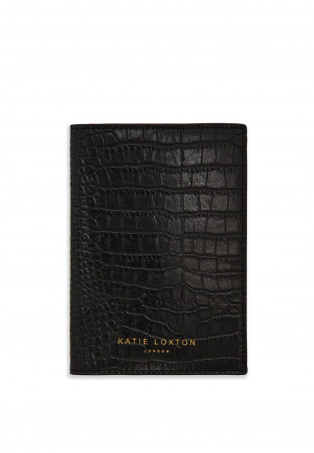 Katie Loxton Celine Faux Croc Passport Holder, Black