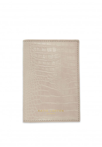 Katie Loxton Celine Faux Croc Passport Holder, Oyster Grey