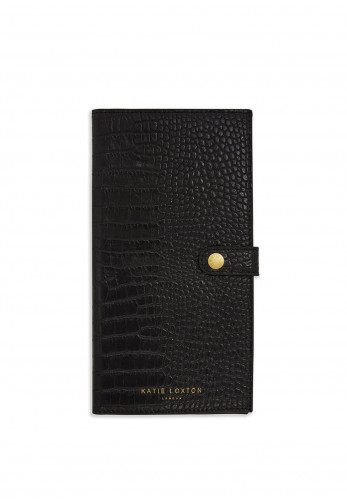 Katie Loxton Celine Faux Croc Travel Wallet, Black