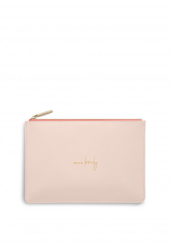 Katie Loxton Colour Pop Hello Lovely Pouch, Pale Pink