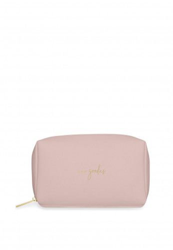 Katie Loxton Colour Pop 'Girly Goodies' Wash Bag, Pink & Ochre