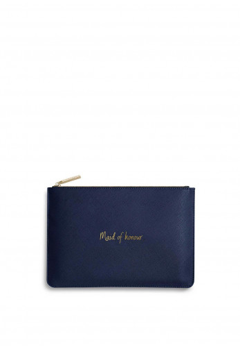 Katie Loxton Perfect Pouch 'Maid of Honour', Navy