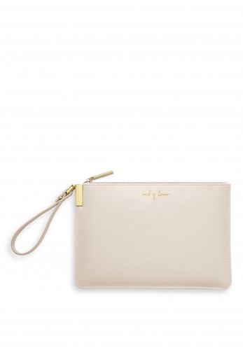 Katie Loxton Maid Of Honour Secret Message Pouch, Metallic White