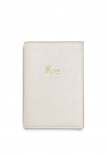 Katie Loxton Mrs Passport Holder, Pearlescent White