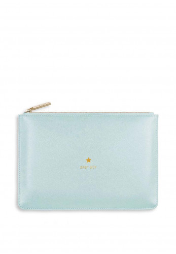 Katie Loxton Perfect Pouch Baby Boy, Metallic Blue