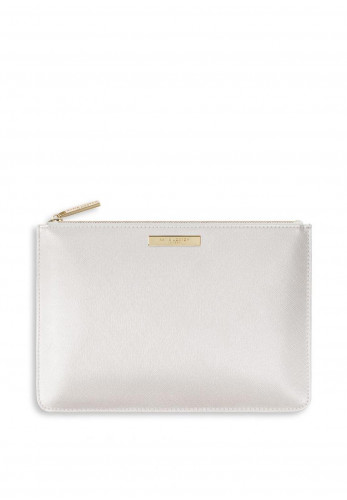 Katie Loxton Perfect Pouch Bridesmaid, Metallic White