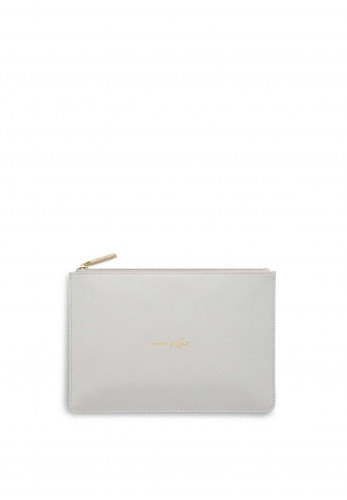 Katie Loxton Perfect Pouch Super Sister, Pale Grey