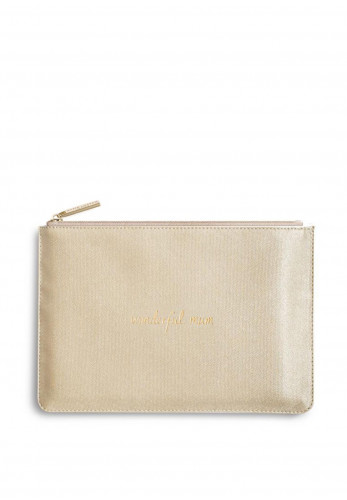Katie Loxton Perfect Pouch Wonderful Mum, Shiny Gold