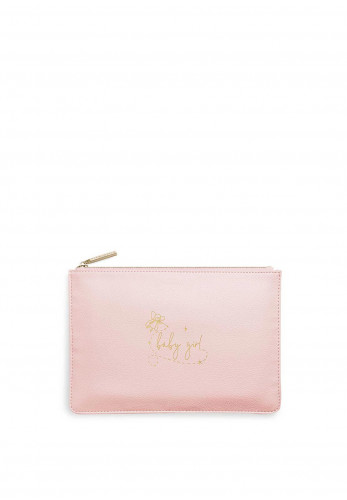 Katie Loxton Perfect Pouch 'Baby Girl', Rose
