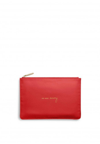 Katie Loxton Perfect Pouch 'So Very Merry', Red