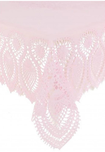 Kersten Tablecloth Vinyl Lace, Pink