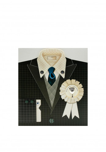 First Holy Communion Keepsake Suit Card