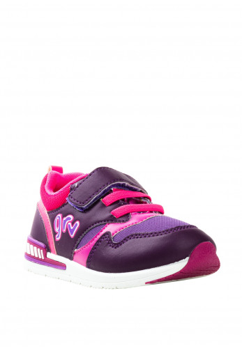 Garvalin Baby Girls Velcro Trainers, Purple