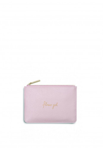 Katie Loxton Flower Girl Mini Pouch Bag, Powder Pink