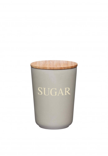 Natural Elements by Kitchen Craft Bamboo Sugar Canister, Grey