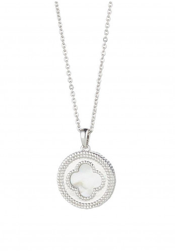Knight & Day Amelie Mother of Pearl Disk Necklace, Silver