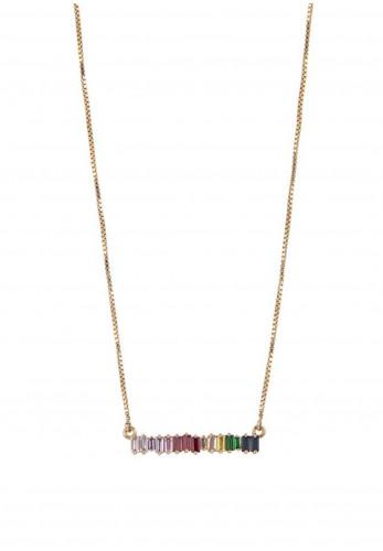 Knight & Day Carleigh Multi-Coloured Necklace, Gold