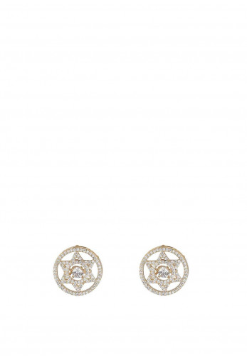 Knight & Day Ava Geometric Design Earrings, Gold