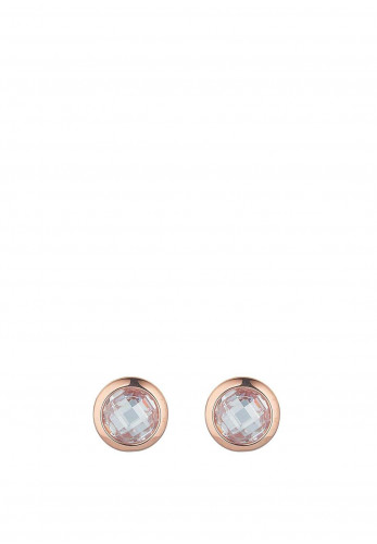 Knight & Day Abigail Crystal Disc Earring, Rose Gold