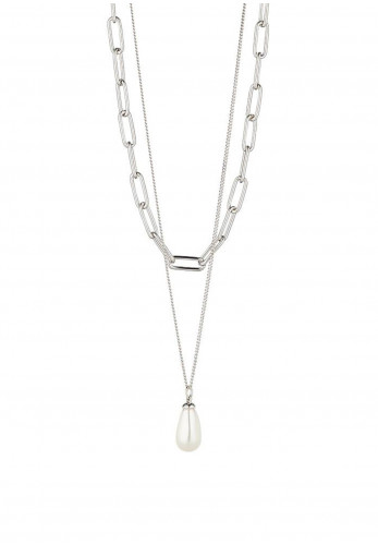 Knight & Day Tamia Layered Necklace, Silver