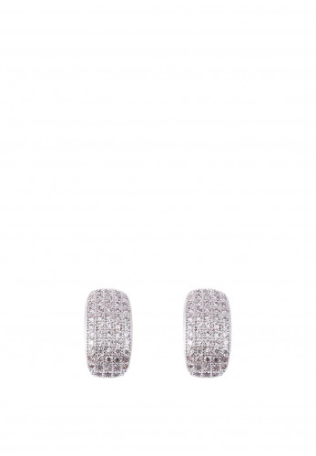Knight & Day Valentina Stud Earrings, Silver