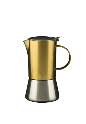 Edited by La Cafetiere Gold & Brushed Chrome Stovetop
