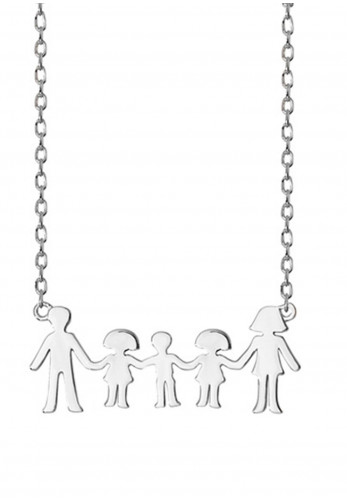 Sterling Silver Family Necklace, Silver