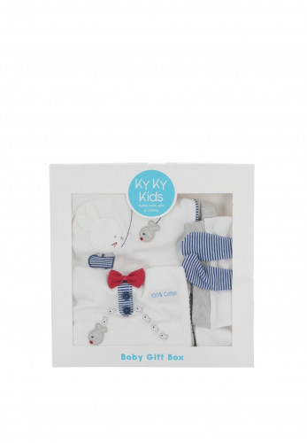 Ky Ky Kids Baby Boy Mouse Gift Box, White