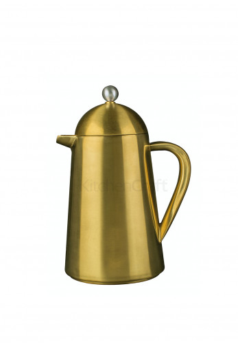 La Cafetiere 8 Cup Thermique Cafetiere, Brushed Gold