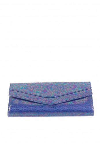 Ana Roman Iridescent Clutch Bag, Blue