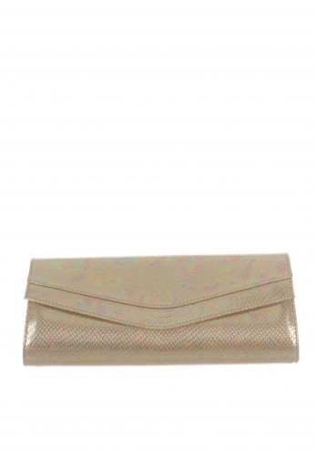 Ana Roman Iridescent Clutch Bag, Gold