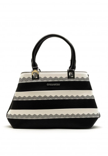 Zen Collection Two Tone Shopper Bag, Black & White