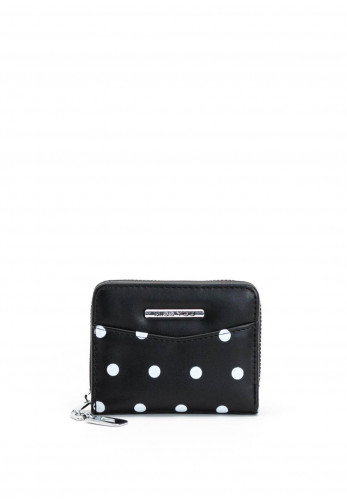 Zen Collection Polka Dot Small Purse, Black