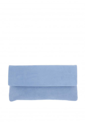 Le Babe Suede Clutch Bag, Sky Blue