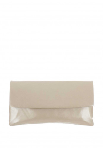 Le Babe Leather Clutch Bag, Vintage Gold