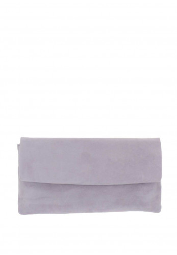 Le Babe Suede Clutch Bag, Mauve