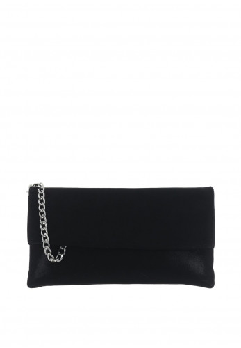 Le Babe Suede Shimmer Clutch Bag, Black